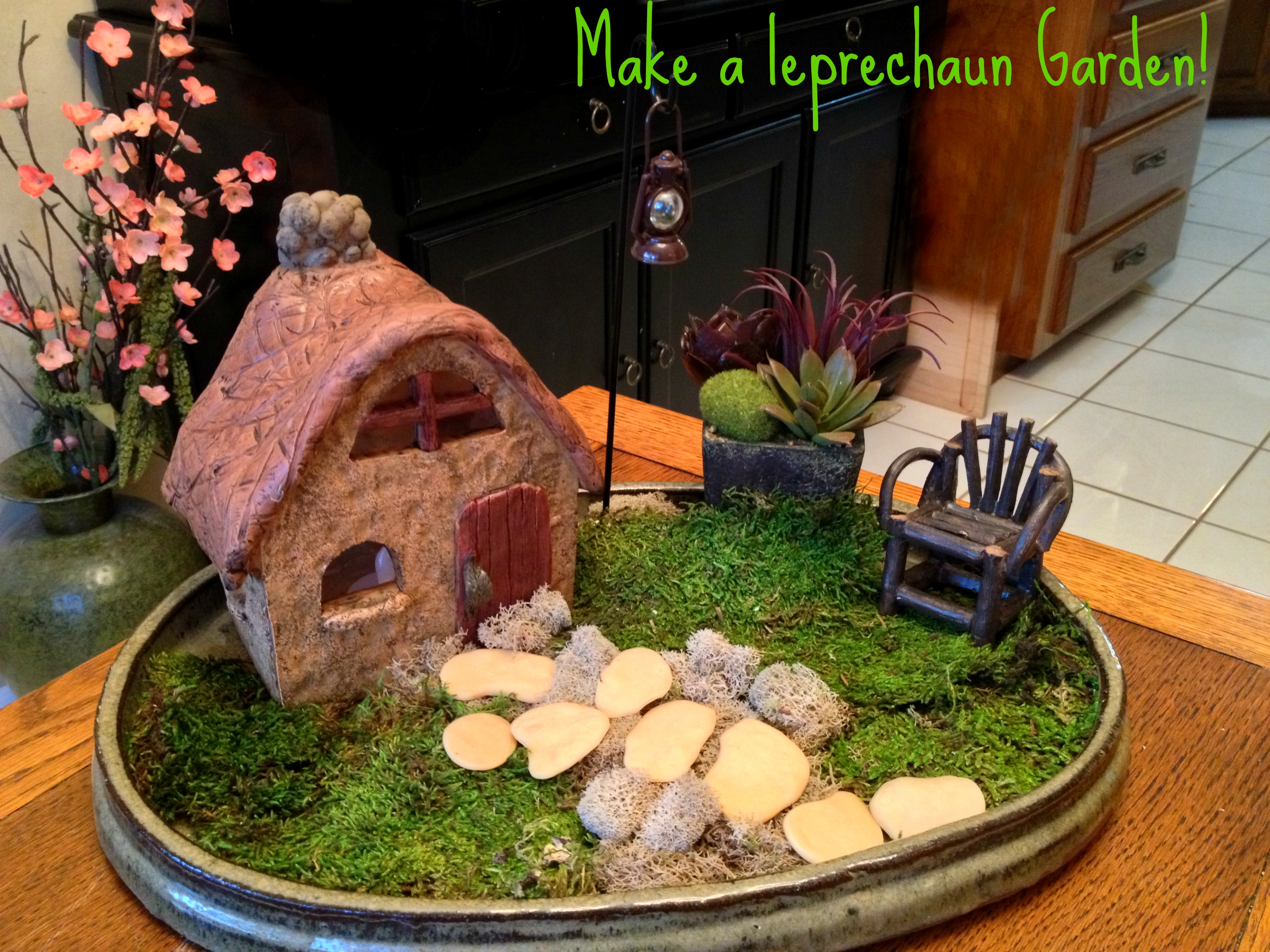 Garden for Irish fairy garden