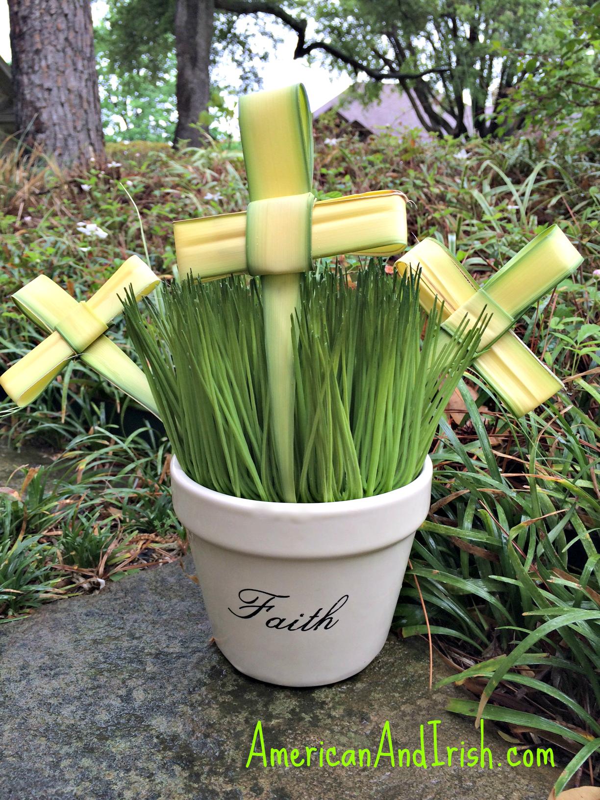 Folding Palm Sunday Crosses