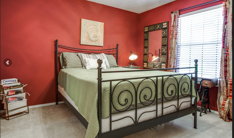 red guest room
