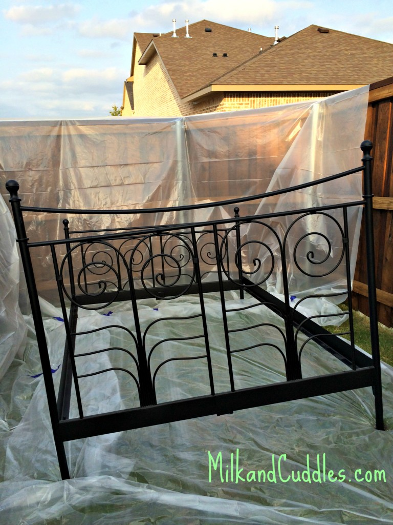 spray painting bed