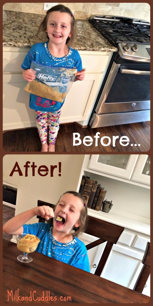 Making Banana Ice Cream