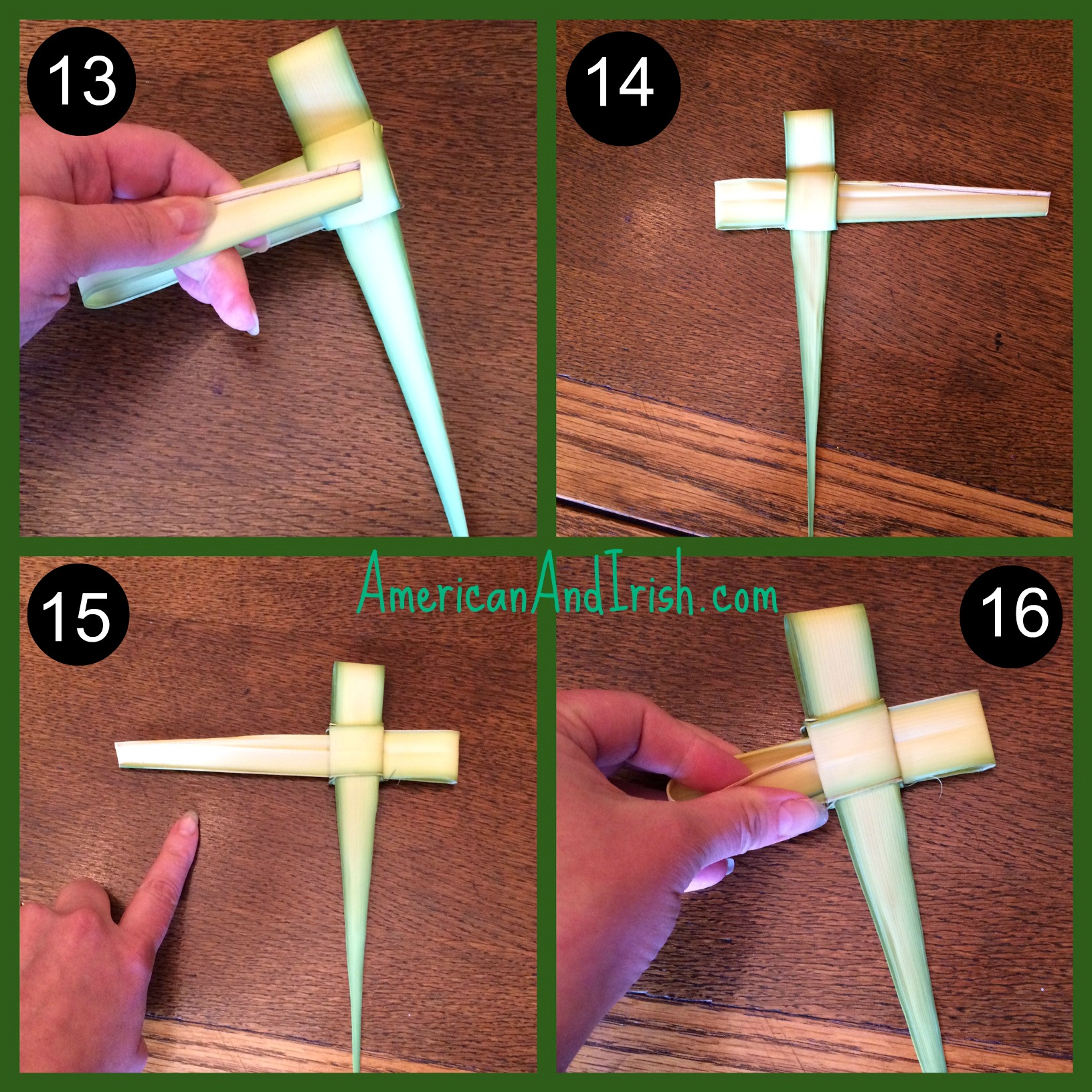 How to Make a Palm Frond Cross pics