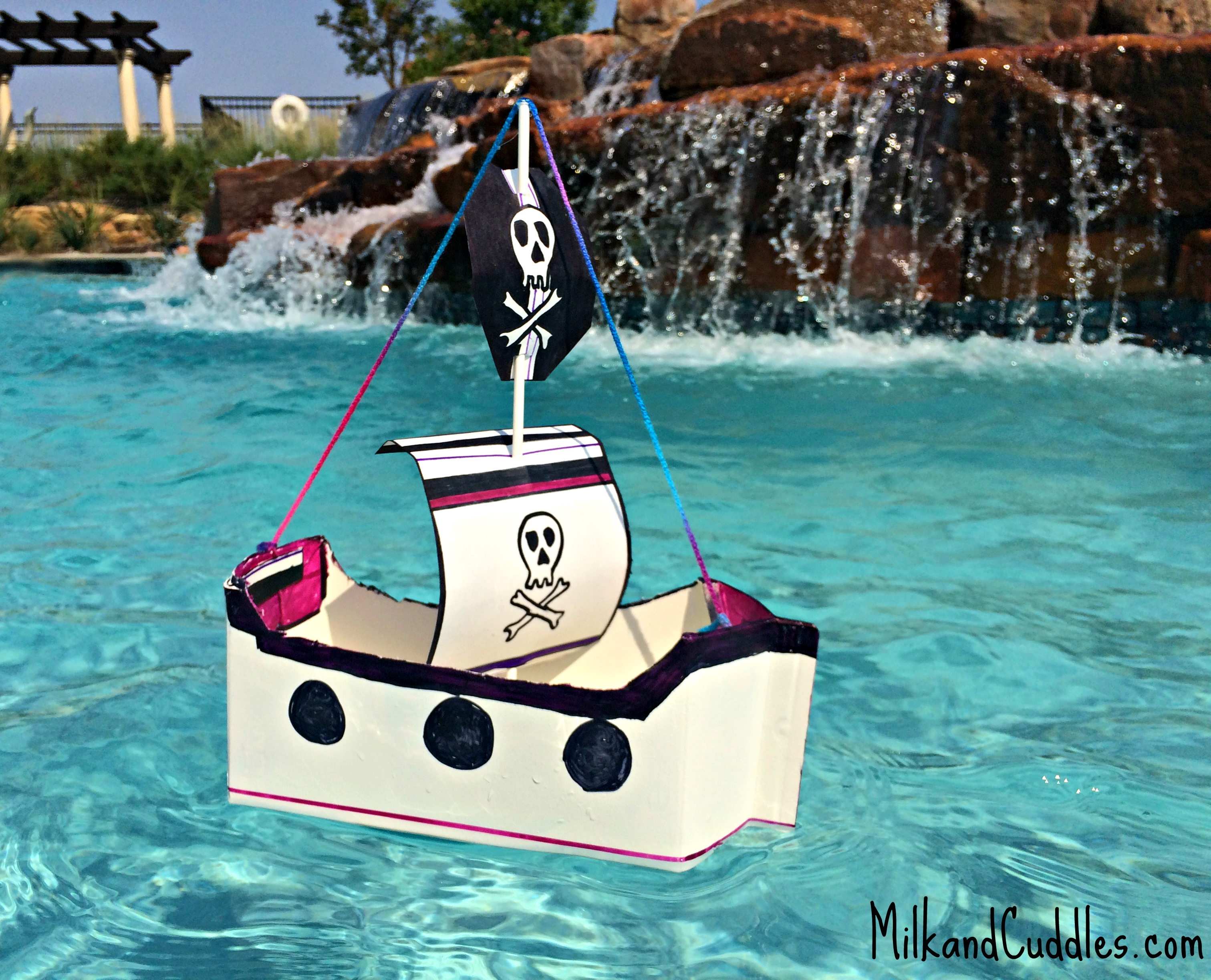 Make A Floating Pirate Ship Out Of Recyclables