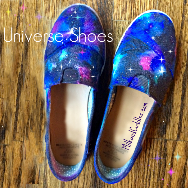 how to make galaxy shoes
