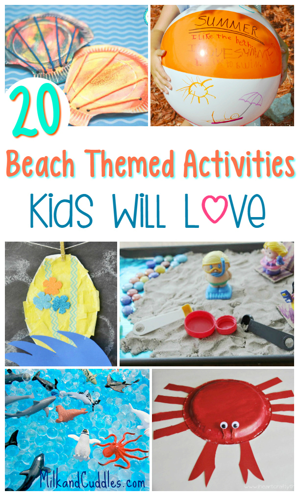 20 Beach Themed Activities For Kids Everyday Best