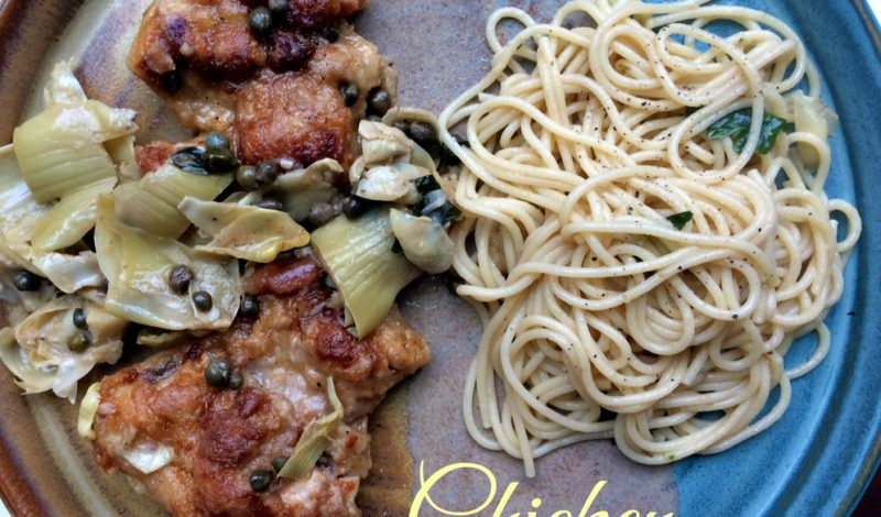 Chicken with Artichokes & Capers!