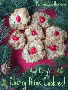 Aunt Kathy's: Cherry Blink Cookies