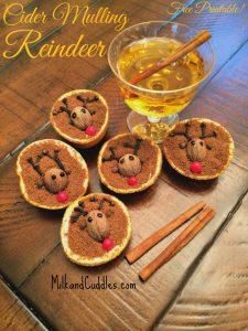 Cider Mulling Reindeer  {Free Printable!}