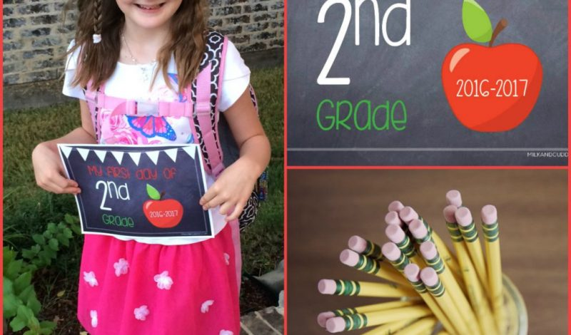 Free First Day of School Sign Printable!