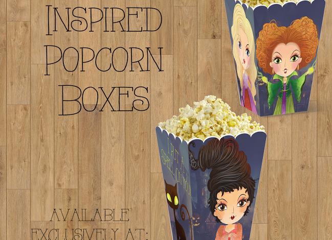 Hocus Pocus Inspired Popcorn Boxes {FREE Printable}