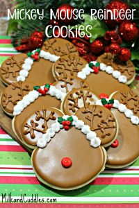 Mickey Mouse Reindeer Cookies