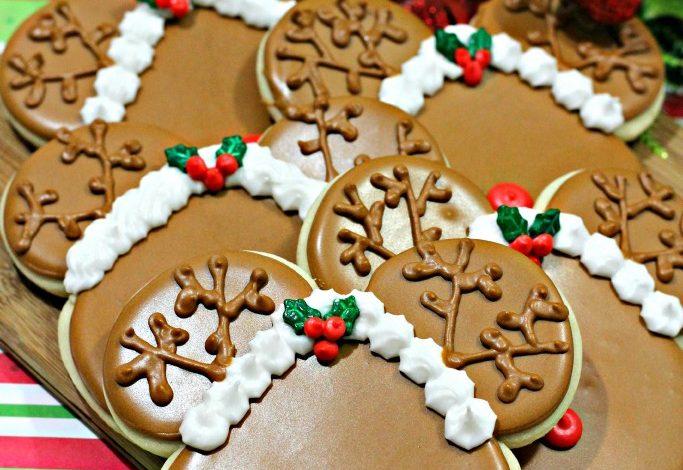 Mickey Mouse Reindeer Cookies