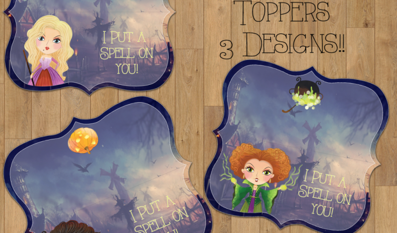 Hocus Pocus Inspired Bag Toppers {Free Printable}