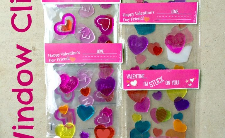 Window Cling Valentines {Free Printable!}