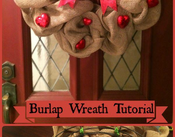 Make a Burlap Valentines Day Wreath!