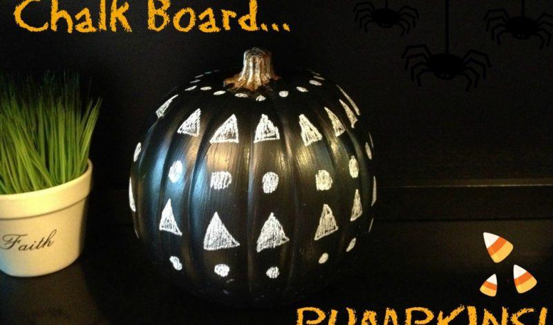 Chalkboard Pumpkins!