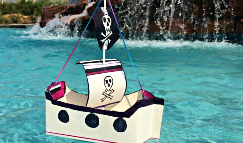 Make a Floating Pirate Ship – out of Recyclables!