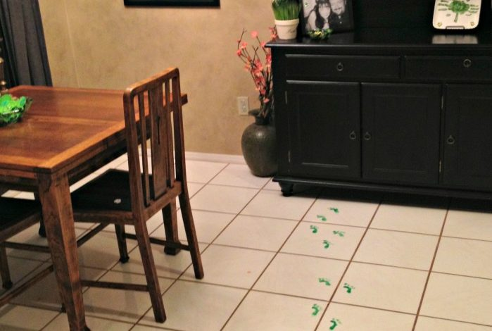 How to make Elf Footprints!