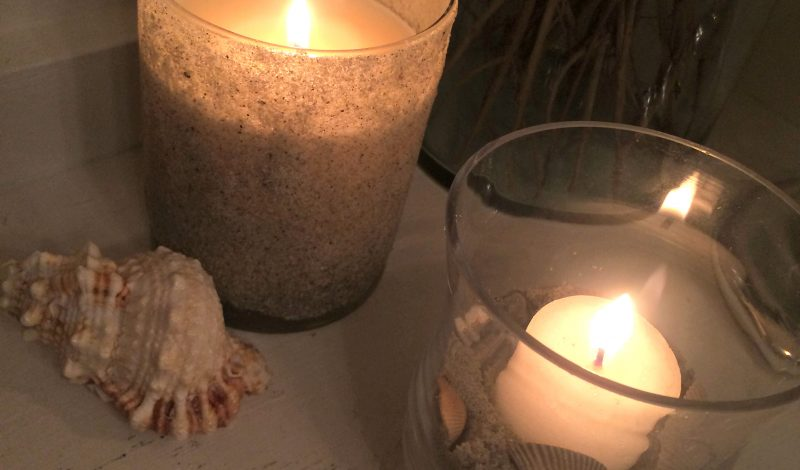 Beach Sand Covered Votive Candles