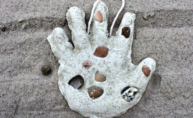 DIY Sand Hand Print {Beach Craft}