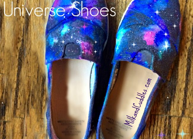 Universe Shoes! An Easy Galaxy Craft!