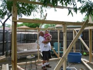 beginning building the playhouse