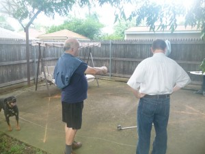 grandpa planning playhouse