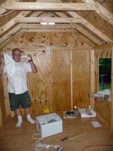playhouse inside taking shape