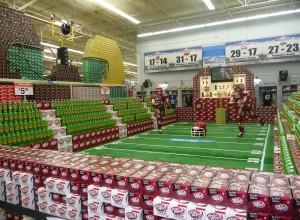 walmart football display