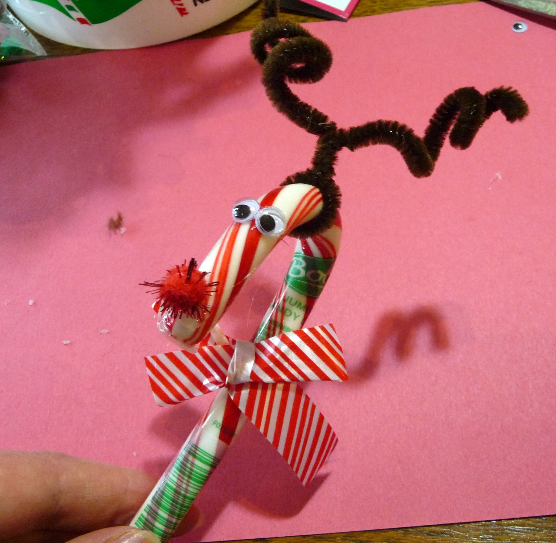 Candy cane reindeer craft for Reindeer project