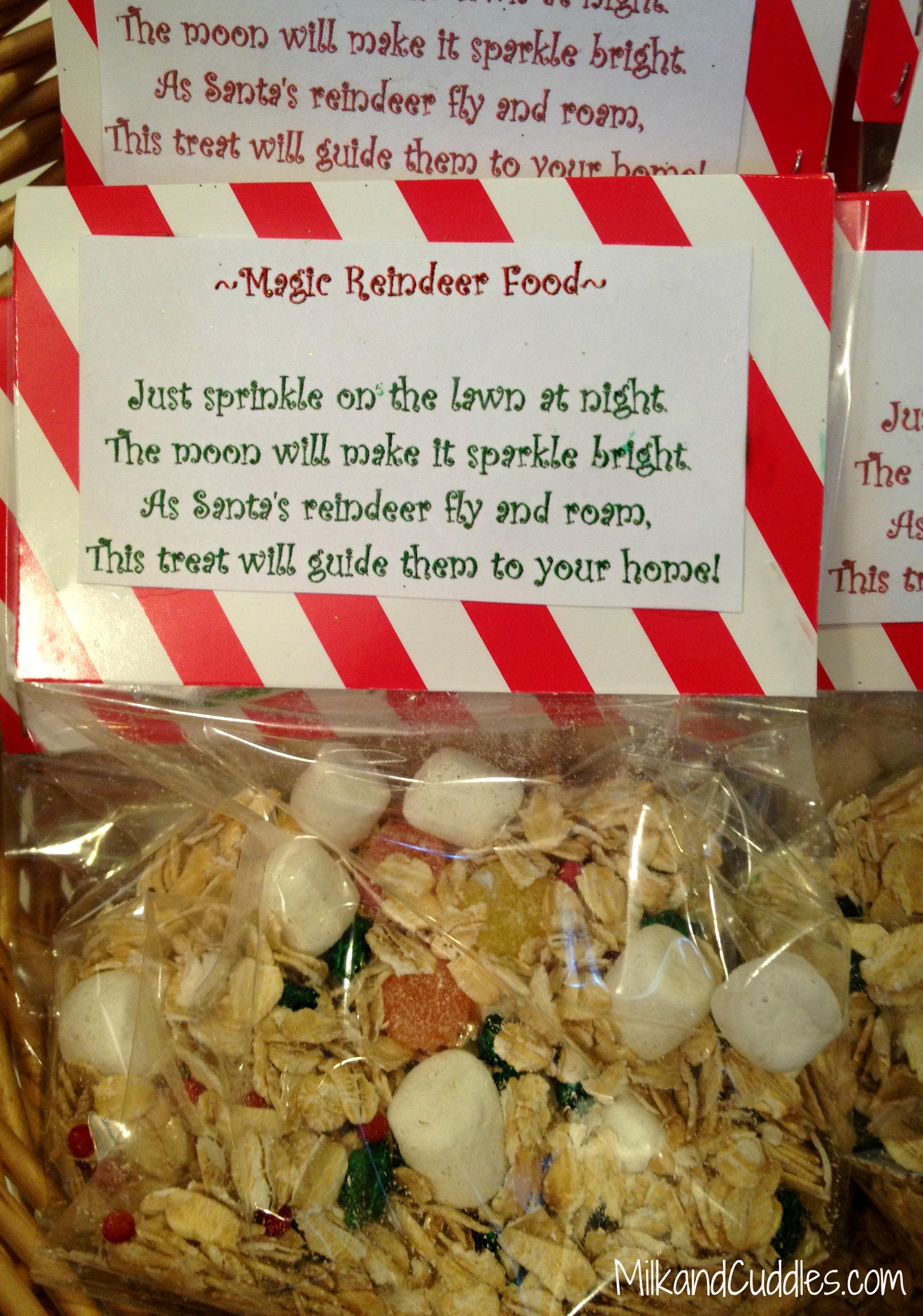 Reindeer Food Recipe and Free Printable!   Milk & Cuddles