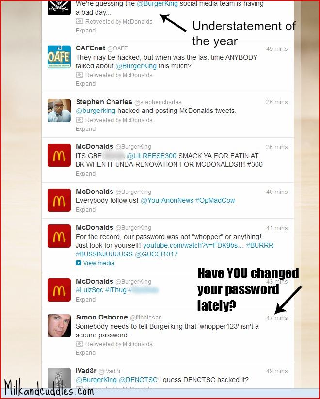 Burger king hack password reminder