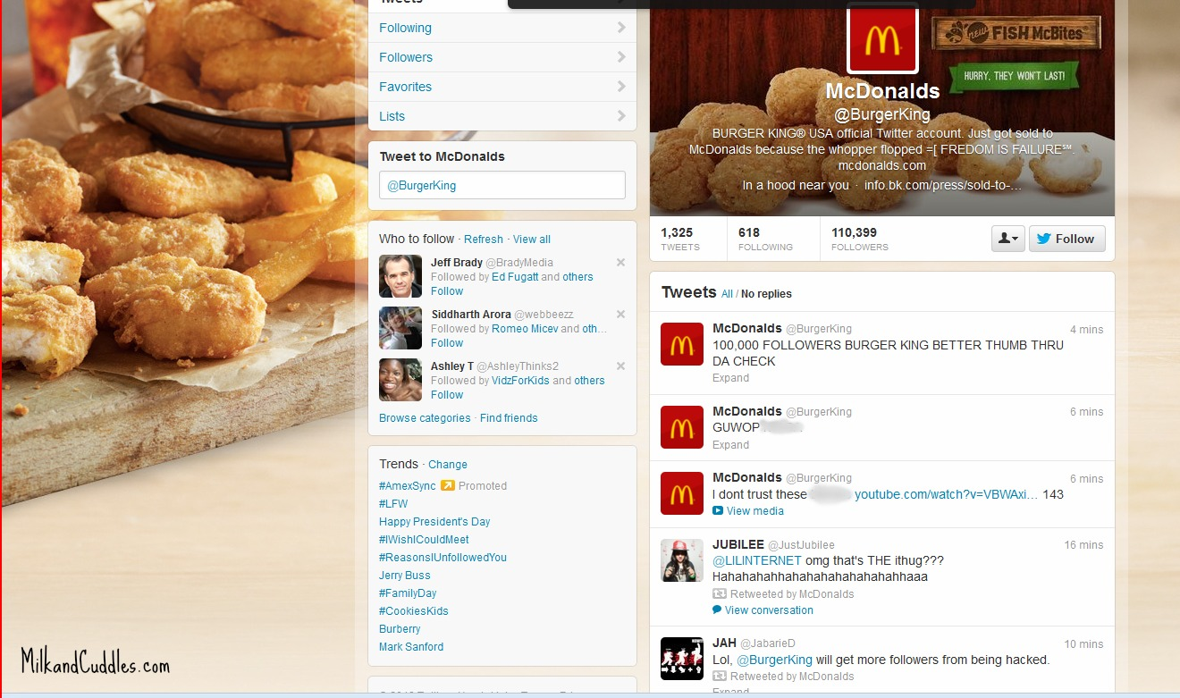 Burger King Twitter screenshot
