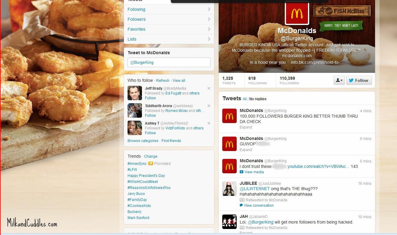 Burger King Twitter screenshot