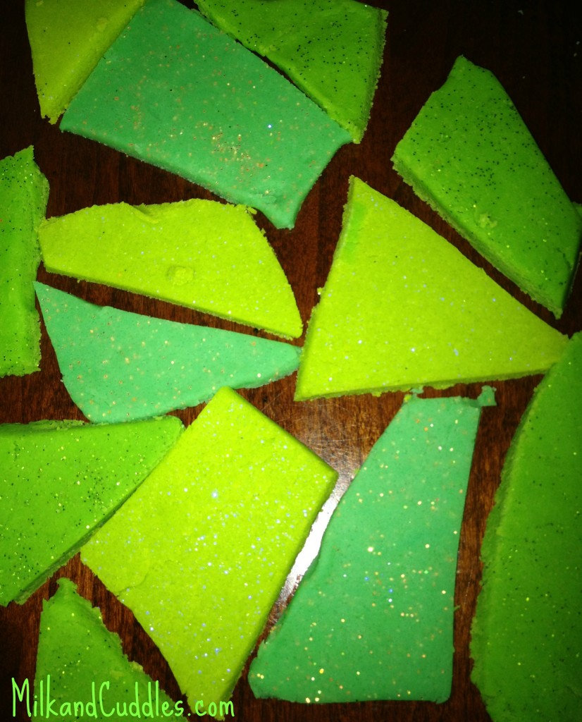 St. Patrick's day play dough