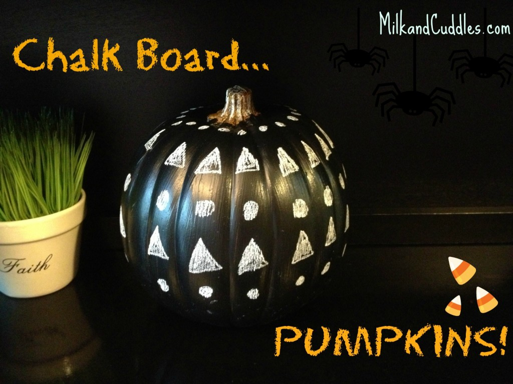 chalk board Pumpkins