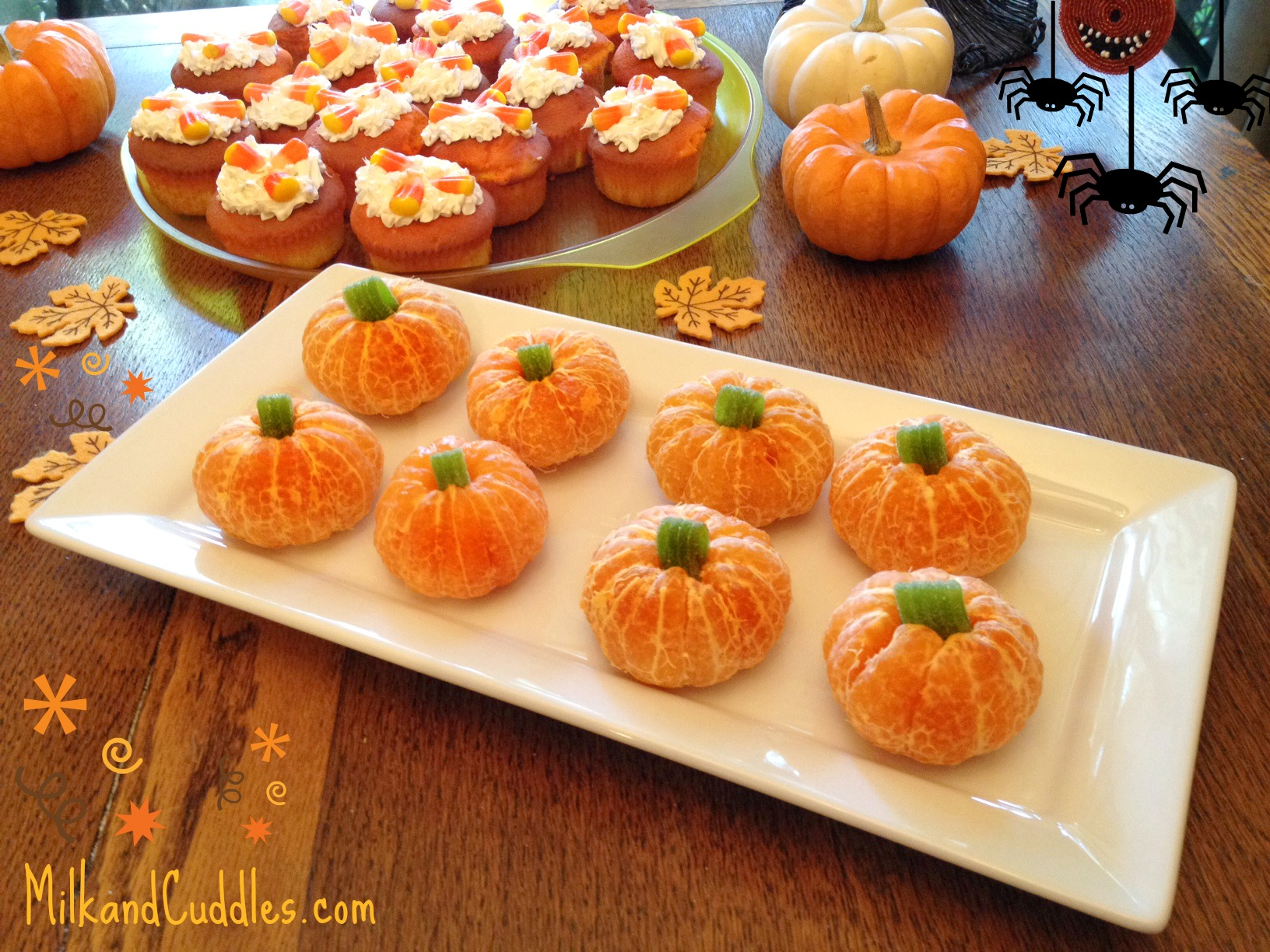 recipe tips for candy corn cupcakes and orange pumpkins