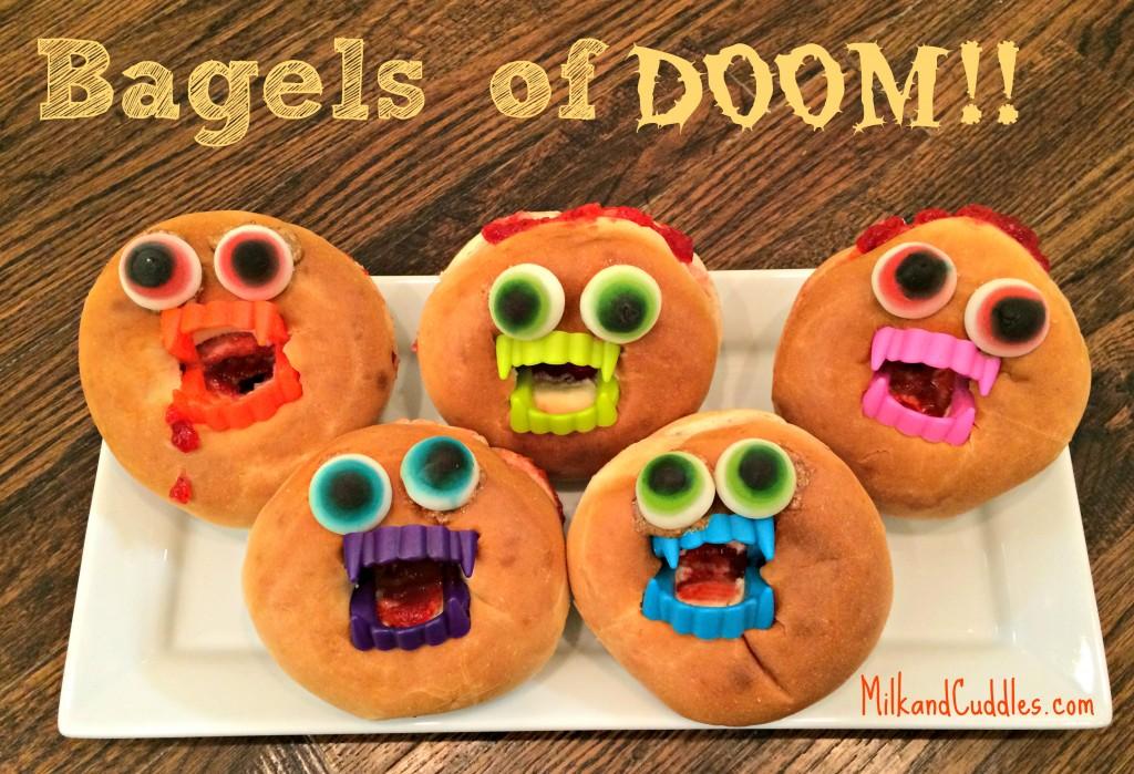 Halloween Bagels