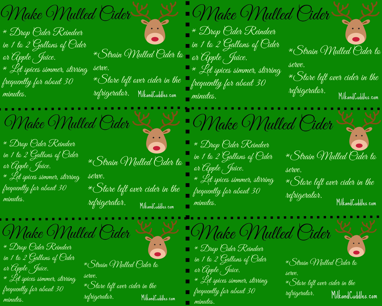 Free Reindeer Food Printables