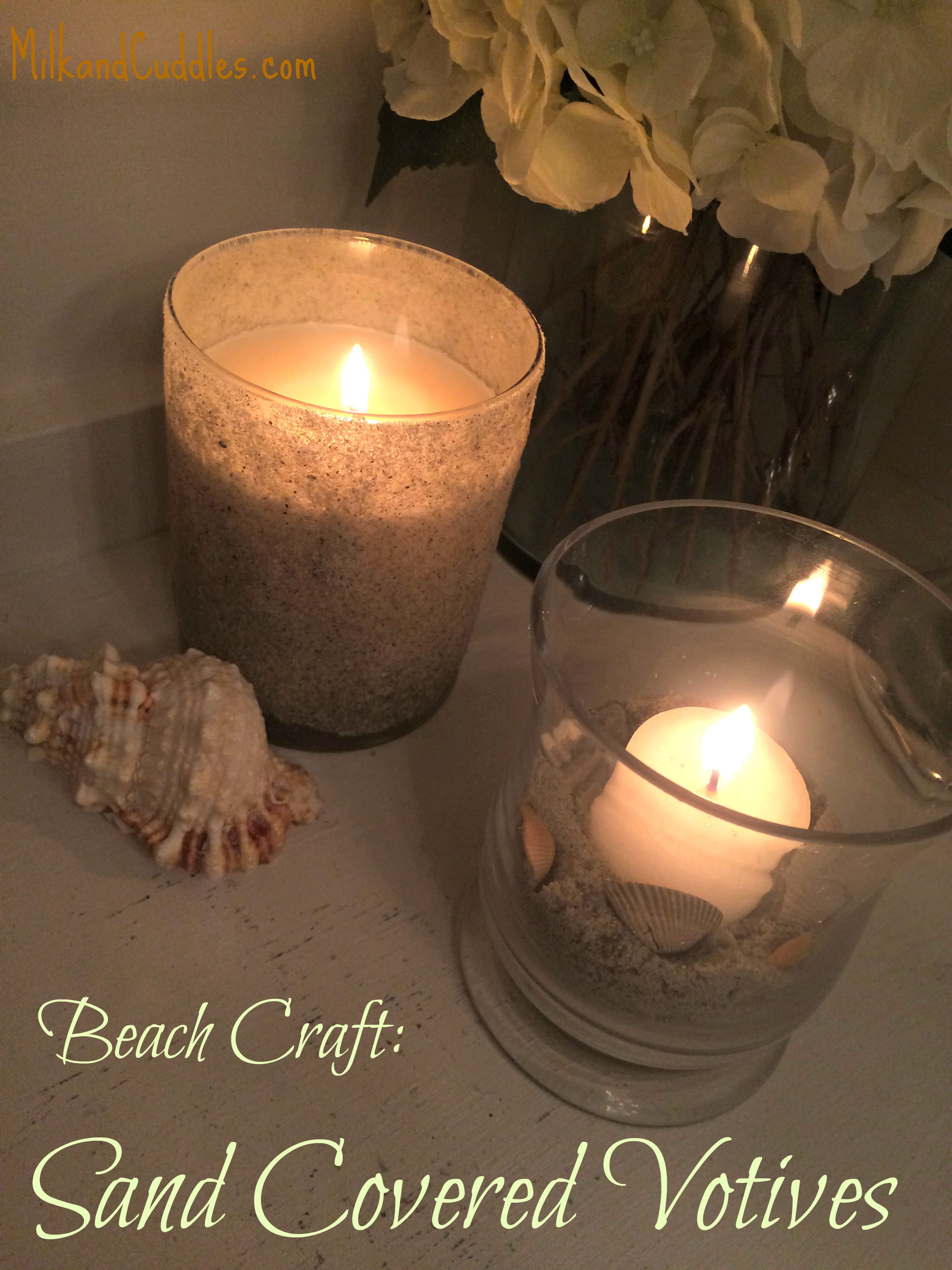 sand covered votives