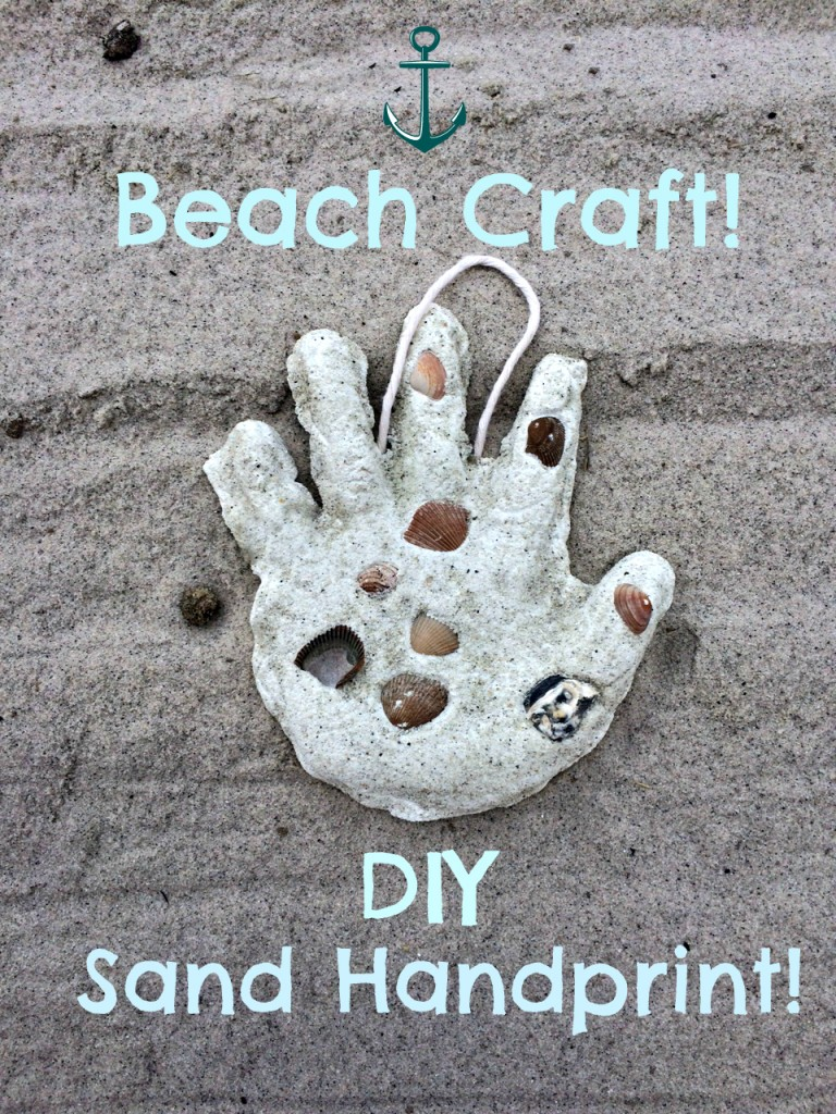 sand handprint