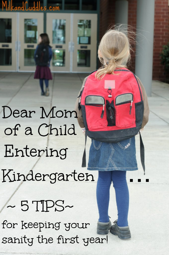 advice for starting kindergarten