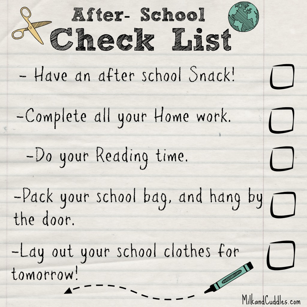 school check list