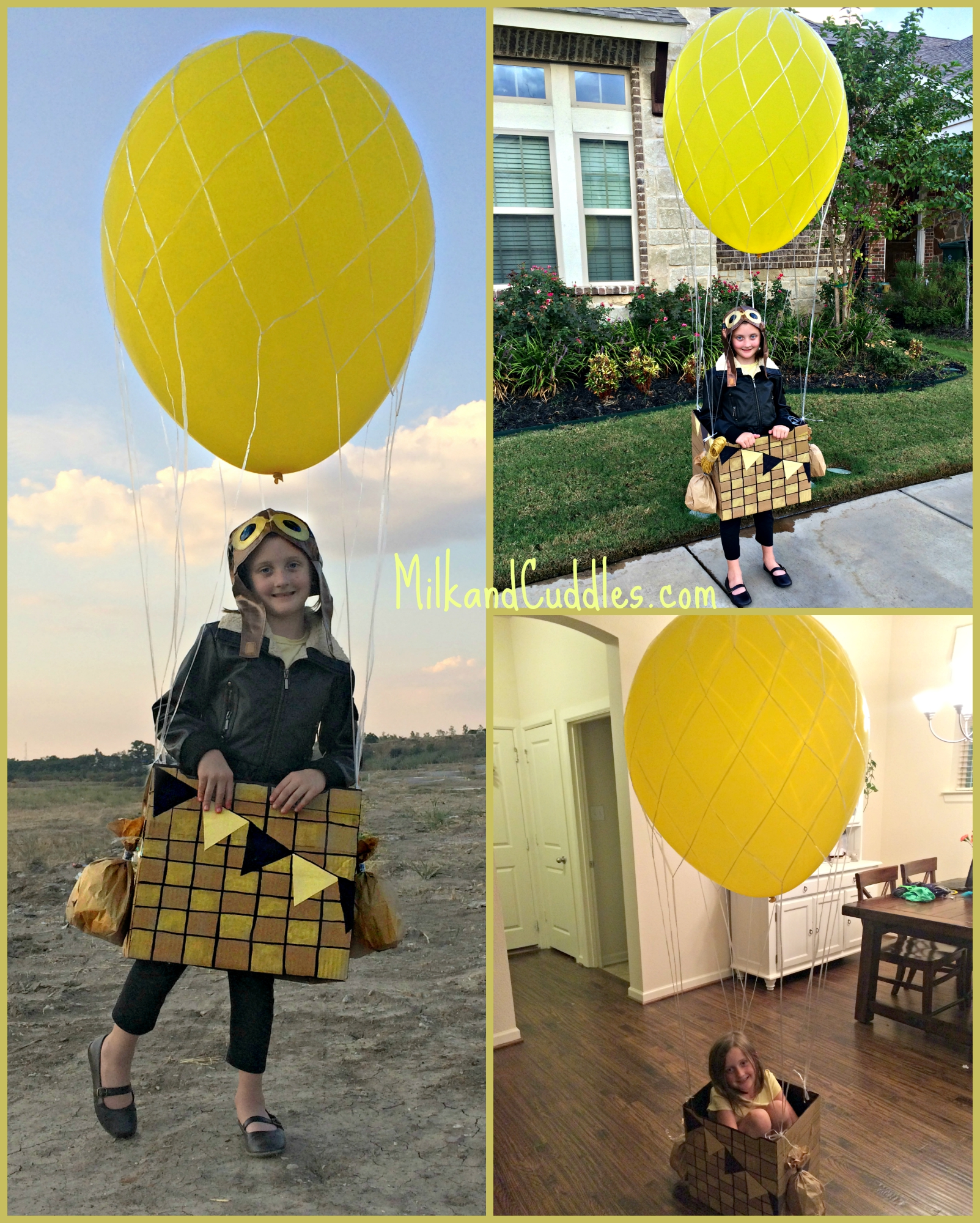 how to make a hot air balloon costume & Hot Air Balloon Costume - Out of a Box! - Everyday Best