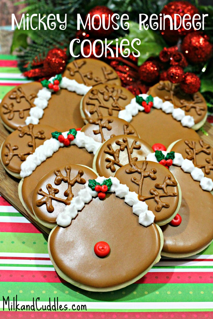 Mickey Reindeer Cookies