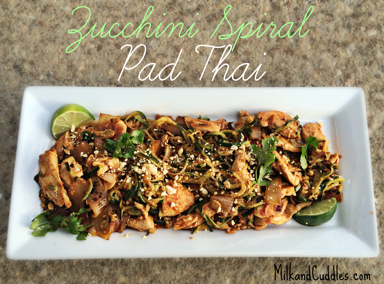 how to make zucchini spiral pad thai