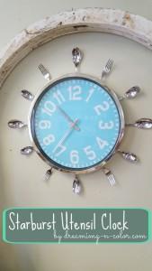Starburst Utensil Clock 2