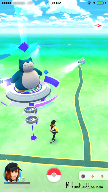 how to use a pokemon go gym