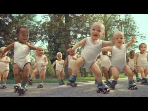 I am a sucker for babies dancing…or ya know – rollerskating!