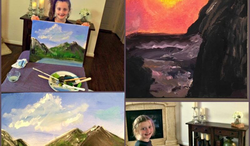 Tips for Helping Kids Paint With Bob Ross!